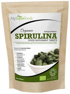 SPIRULINA BIOLOGICA 300 COMPRESSE 500mg | Certificato Biologico Soil Association