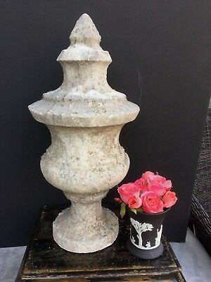 Antique 19th Century Marble Architectural Finial Salvage Statue