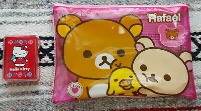 Sanrio Rilakkuma RAFAEL Pencil Case & Hello Kitty Playing Cards Lot Japan San-X