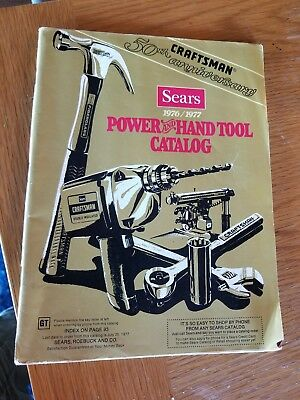 Vintage Sears Roebuck Craftsman Tool Sales Catalog 1976 1977 Rare Advertising