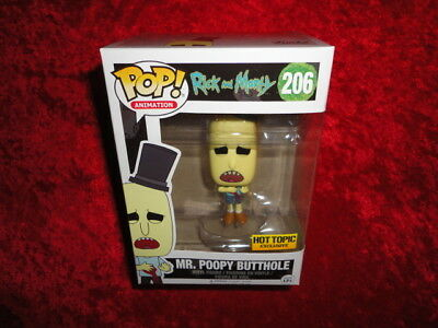 2017 Funko POP! Rick and Morty Mr. Poopy Butthole gunshot Exclusive MIB #206