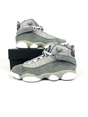 0854f3639b8cca Nike Air Jordan 6 Rings BG Grey White Big Kids Basketball Shoes 323419-014