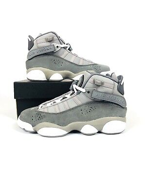 quality design 3b29c ab6b9 Nike Air Jordan 6 Rings BG Grey White Big Kids Basketball Shoes 323419-014