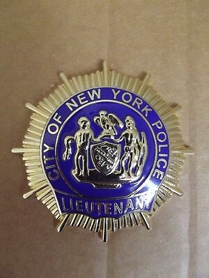 Badge-Brustabzeichen-NYPD-New York Police-Lieutenant