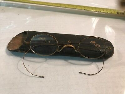 Vintage Wire Frame Eye Glasses Marked 14k