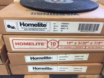 Homelite  Ductile Abrasive Wheels 12X5/32X1 Part #68421-B & 68421-AS