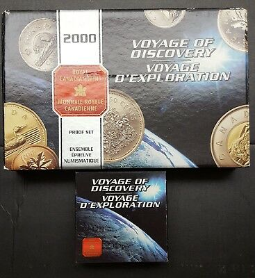 2000 Voyage Of Discovery Canadian Proof Set And Commemorative Coin
