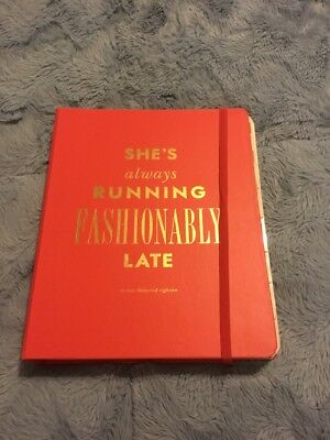 Kate Spade 2018 Set The Stage LARGE PINK AGENDA PLANNER FASHIONABLY LATE