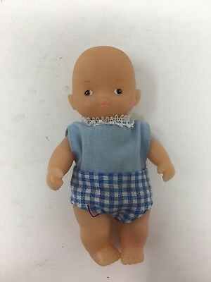 Vintage Miniature Rubber Baby Dollhouse Doll Anatomically Correct Boy Male