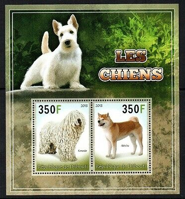Timbres - Stamps - Djibouti - Bloc-Feuillet - M/s - Les Chiens - Dogs - 2013 -