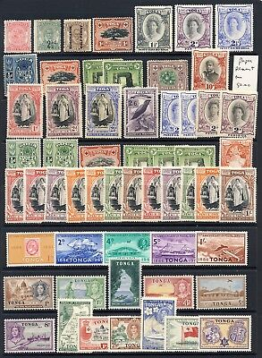 Tonga mlh stamp collection of earlier stamps on one stockpage 162.00
