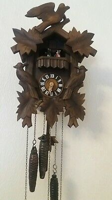 Vintage Black Forest Musical Cuckoo Clock Regula Movement A.schneider Sohne