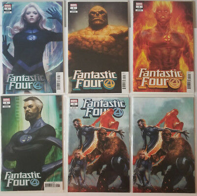Fantastic Four #1 NM 6 Cover Set Artgerm Trade + Dell'Otto Virgin/Trade