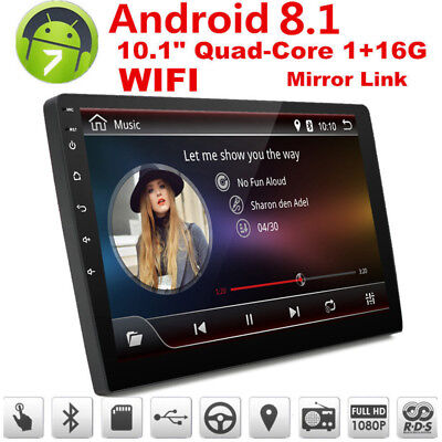 "Car GPS 10.1"" 1080P 2Din Touch Screen Quad-Core Stereo Radio Player for Android"