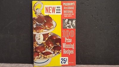 Vintage 1953 Pillsbury's 4th Grand National Cook book 1st ed 100 prize Recipes