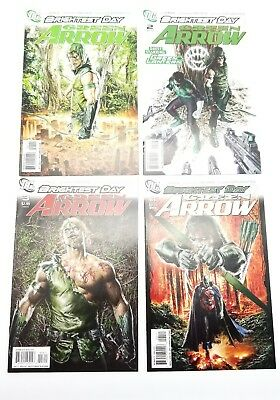 Green Arrow 1 2 3 4 Brightest Day Volume 5 August 2010 DC Comic Lot Run Set