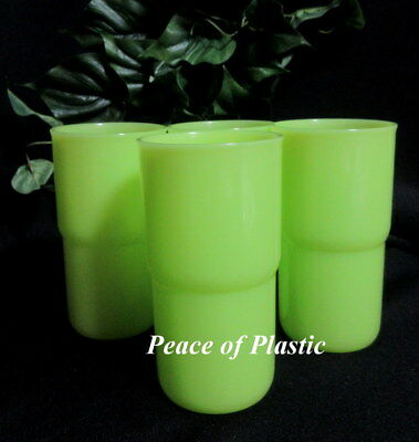 Tupperware New Set of 4 12 ounce TableTop Stacking Tumblers in Green