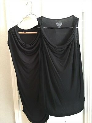 A Pea in the Pod Lot Black maternity tanks Small