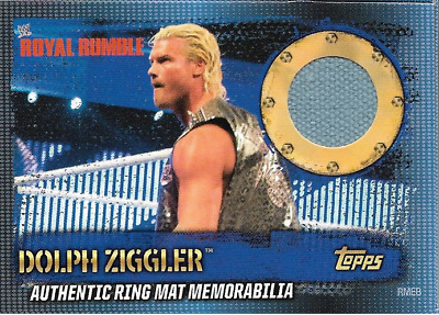 Dolph Ziggler Topps WWE Slam Attax 10th Edition Ring Mat Memorabilia + cena flix