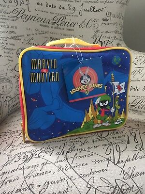 VTG Looney Tunes Thermos Marvin Martian Lunch Box Warner Bros 1997 Cartoon NOS