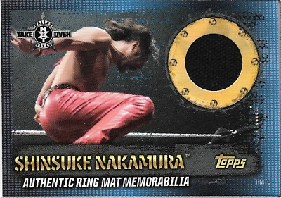 Shinsuke Nakamura Topps WWE Slam Attax 10th Edition Ring Mat Memorabilia + cena