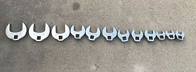 Proto 12 Piece SAE 3/8 Drive Crowfoot Set 3/8 To 1 1/4 Great Unused Condition