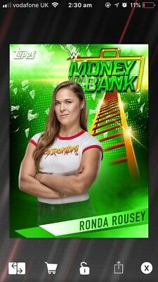 Topps Slam Ronda Rousey MITB Paywall