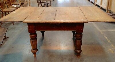 Lovely Large Antique Victorian Oak Extending Farmhouse Kitchen/dining Table