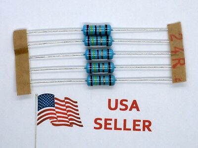 1W 1 Watt 1% Tolerance Metal Film Resistor (5 Pieces) USA SELLER