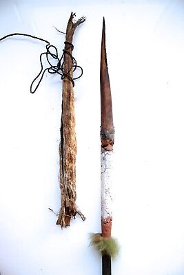 Rare Bone Tipped Fighting Spear - Western Highlands New Guinea 1970's