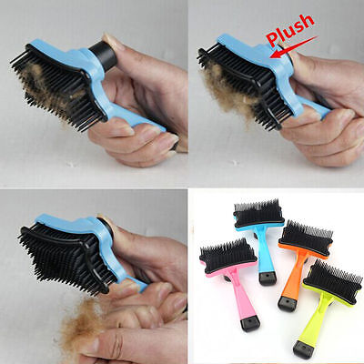 Dog Cat Pet Hair Fur Shedding Trimmer Grooming Rake Professional Comb Brush Tool