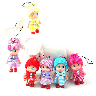 5Pcs Kid Toy Soft Interactive Baby Dolls Toy Mini Doll For Girls Cute Gift Sunny