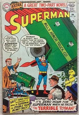 Superman #182 SILVER AGE (1965 DC) FN condition bagged and boarded.