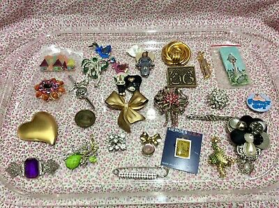 Antique Vintage Brooch Collection Group Lot Some Not So Old Too