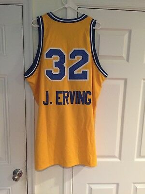 JULIUS ERVING ROOSEVELT HIGH SCHOOL JERSEY YELLOW NEW SEWN ANY SIZE