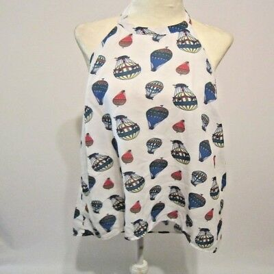Modcloth Rare Hot Air Balloon Novelty Halter Tunic SZ XL