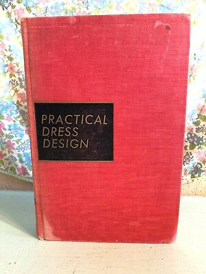 Vintage Practical Dress Design Textbook 1940s 1941 WWII Clothing Home Economics