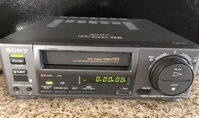 Sony EV-C100 Hi8 Video8 8mm Video 8 Cassette Recorder VCR Deck NTSC EV-C100