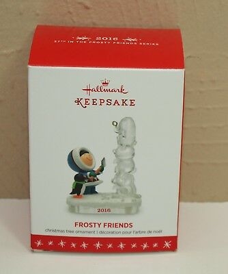 2016 Hallmark Ornament FROSTY FRIENDS 37th in Series MIB