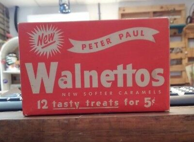 Vintage Peter Paul's Walnetto's  candy box