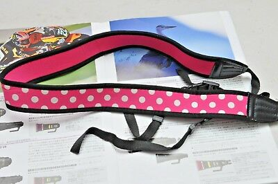 USA Soft Padded Wide Shoulder & Neck Strap for D200 300 500 700 5500 3400 Canon
