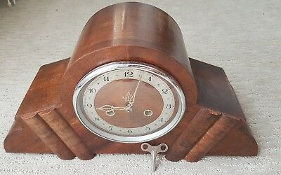 Working Antique mantle clock Abbey by England