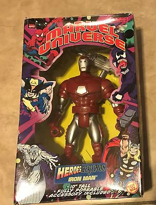 "Marvel Universe Heroes Legends Iron Man 10"" Poseable Figure NEW factory sealed"