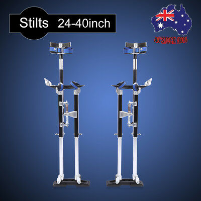 Plastering Stilts 24-40Inch Large Builders Plaster Drywall Tool Aluminum Black