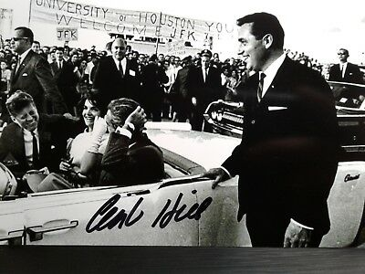 Clint Hill Authentic Hand Signed 4X6 Photo -  John F. Kennedy Assassination