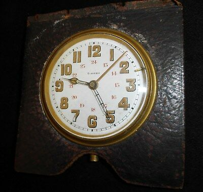 Rare Antique French 8 Day Clock - Enamel Face