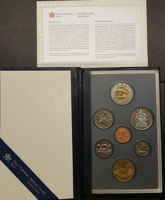 1997 Canadian 7 Coin Specimen Set With 10th Anniversary Aureate Dollar