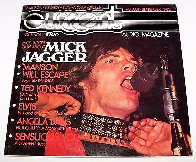 1972 Current Audio Magazine Interview Gatefold Record Lp *mick Jagger Cover* Nm-
