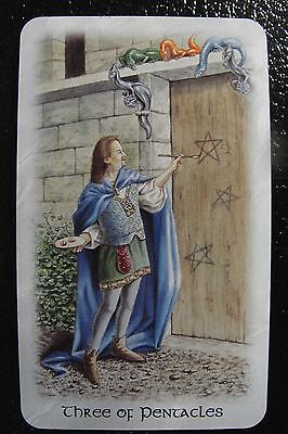 Three of Pentacles Celtic Dragon Tarot Single Replacement Card Excellent