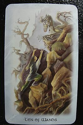 Ten of Wands The Celtic Dragon Tarot Single Replacement Card Excellent